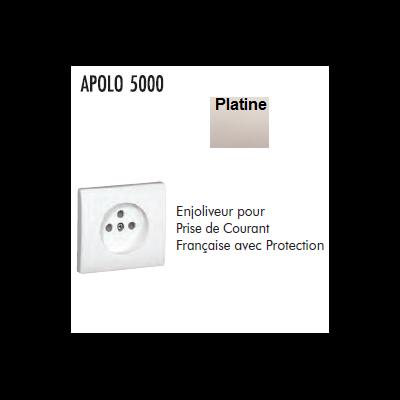 Enjoliveur prise 2P+T Platine APOLO 5000
