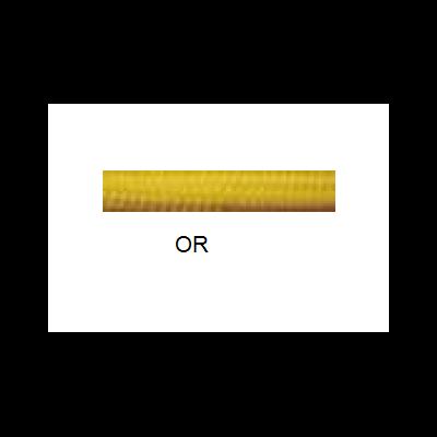 Câble 2x0,75mm tissus coloré Or au mètre