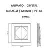 Dimensions plaque simple Animato Logus90 efapel