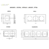 Dimensions plaques Animato Logus90 efpale