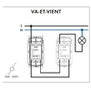 FT Interrupteur Va-et-vient quadro45 efapel