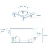 Boite dencastrement 83052 dimensions
