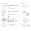 Boite de sol 16 modules 83006C Montage et dimensions
