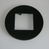 plaque simple 45911SPM Noir MAT