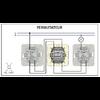 Schéma de montage Interrupteur Permutateur EFAPEL série Mec21 - 21051
