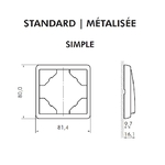 Dimensions plaque APOLO 5000 simple efapel 50910