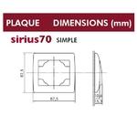 Dimensions plaque simple sirius70 efapel 70910
