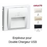 Enjoliveur pour double chargeur usb Sirius70673T