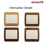 Interrupteur Simple Bois Ivoire Sirius70