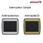 Interrupteur Simple Métal Anthracite Sirius70