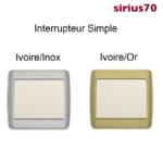 Interrupteur Simple Métal Ivoire Sirius70