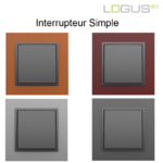 Interrupteur simple animato gris logus90