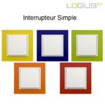 Interrupteur simple animato couleur logus90