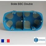 Boite d'encastrement double BBC face