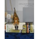 Ampoule LED filament flamme gold culot E14 Eurolamp
