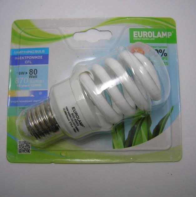 Ampoule Fluo Spirale E27 16W Eurolamp-1