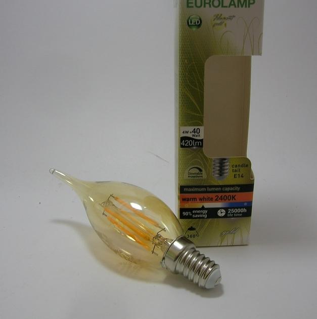 Ampoule LED Filament coup de vent Gold Eurolamp-2