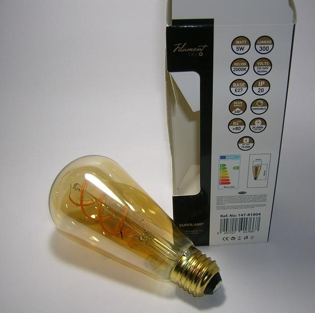 LED Filament décor ST64 5W Gold-2