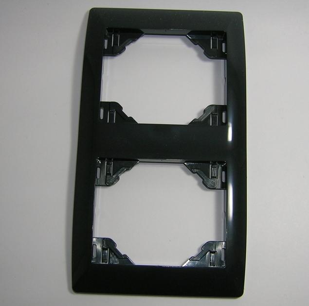 Plaque double Verticale Anthracite sirius 70922 TAT