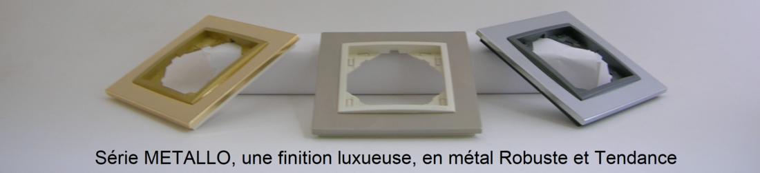Présentation plaques finition metallo