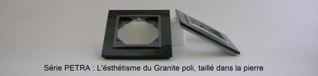 Présentation plaque fintion petra granite