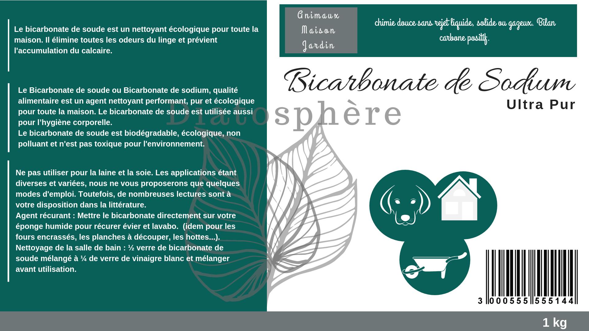 Bicarbonate de Sodium Alimentaire extra fin