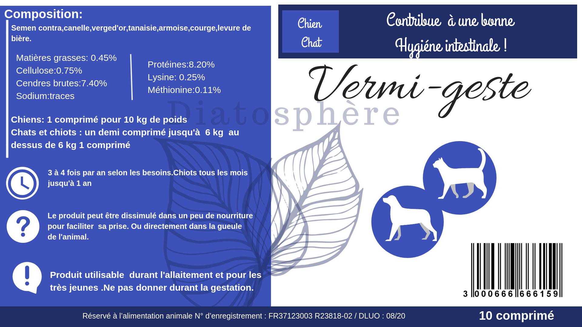 Vermi-geste 10 comprimé