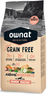 OWNAT JUST GRAIN FREE SAUMON 14 kg