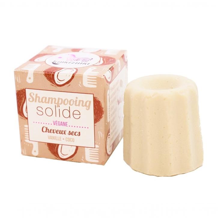 LAMAZUNA shampoing zéro déchet solide cheveux secs coco vanille