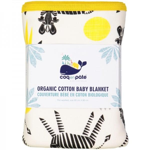 COQ EN PATE couverture bébé coton bio zèbre (2)