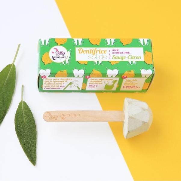 LAMAZUNA dentifrice zéro déchet solide sauge et citron