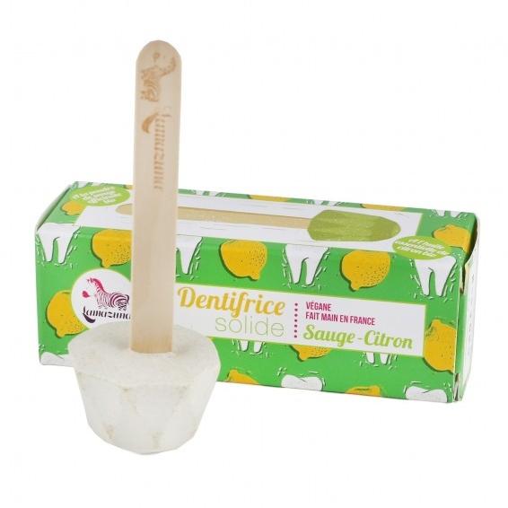 LAMAZUNA dentifrice zéro déchet solide sauge et citron (3)