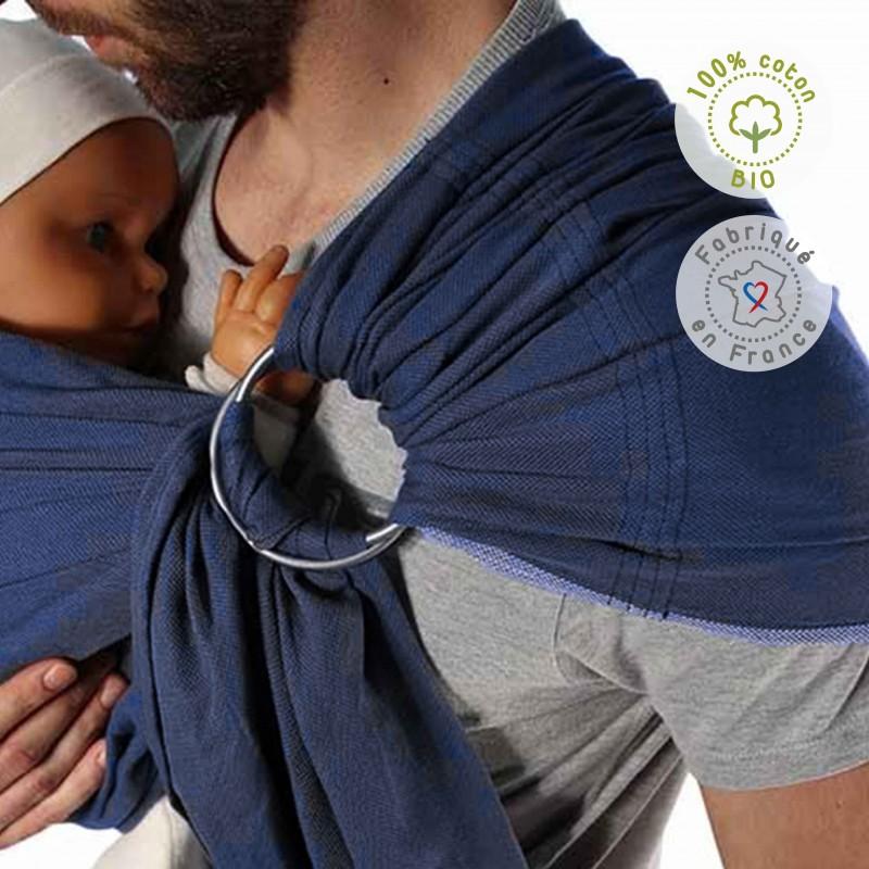 NEOBULLE sling bleu frégate coton bio (2)