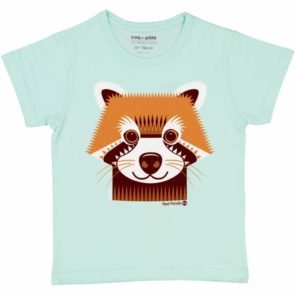 COQ EN PATE t-shirt panda roux coton bio