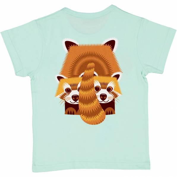 COQ EN PATE t-shirt panda roux coton bio (2)
