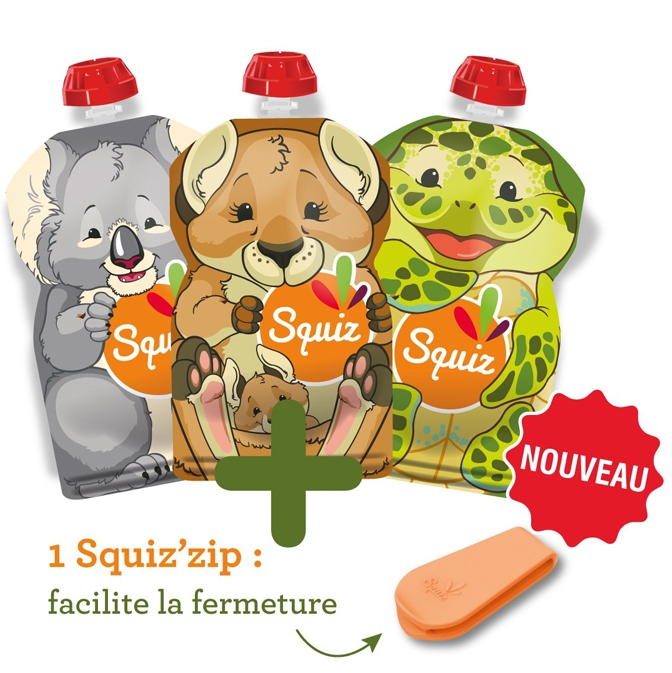 SQUIZ gourdes souples Australia (lot de 3)