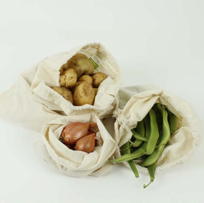 A SLICE OF GREEN sac pour le vrac coton bio ( lot de 3)