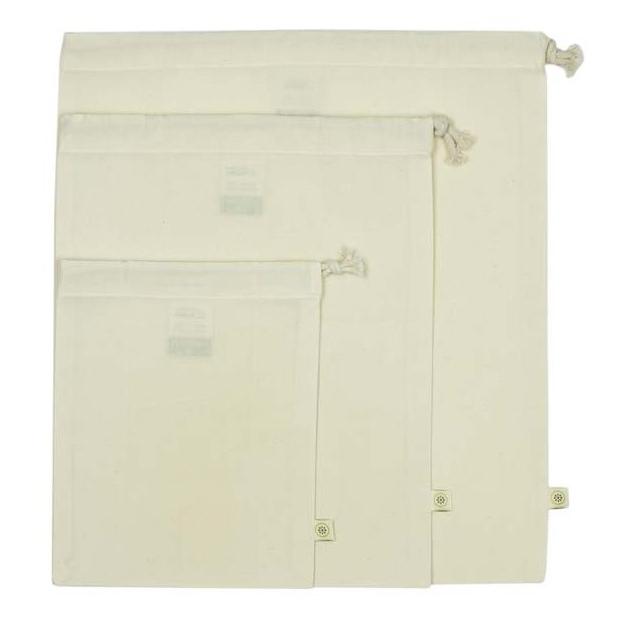 A SLICE OF GREEN sac pour le vrac coton bio ( lot de 3) (3)