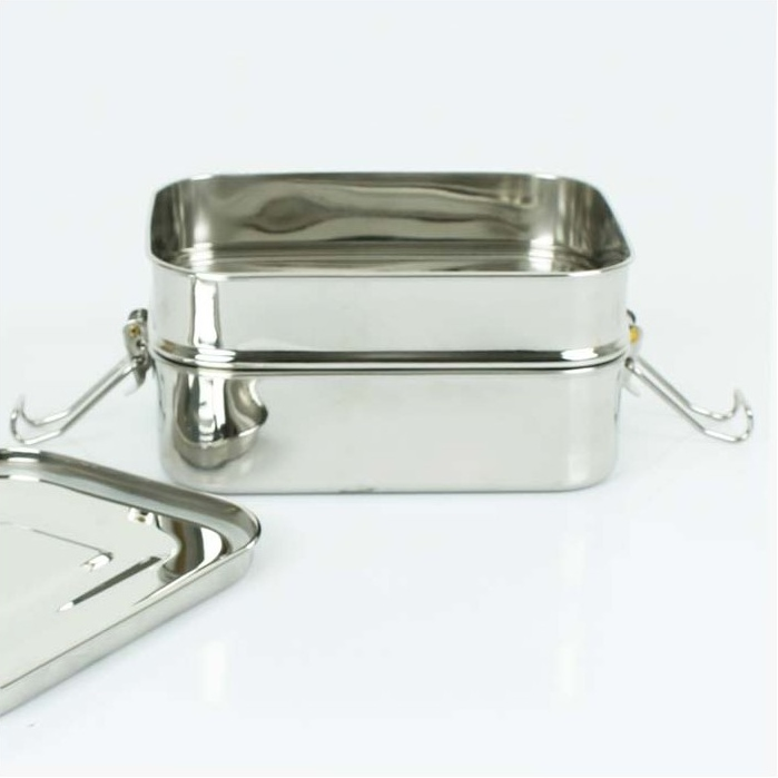 A SLICE OF GREEN Buruni lunch box inox étanche 2 niveaux (1300 ml) (2)