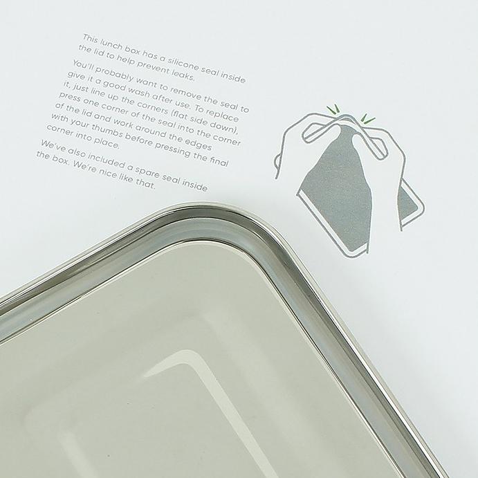 A SLICE OF GREEN Buruni lunch box inox étanche 2 niveaux (1300 ml) (5)