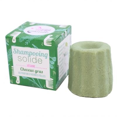 LAMAZUNA shampoing zéro déchet solide cheveux gras herbes folles