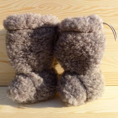 chaussons bébé laine hauts