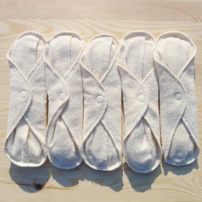 POPOLINI serviettes hygiéniques lavables coton bio (lot de 5)