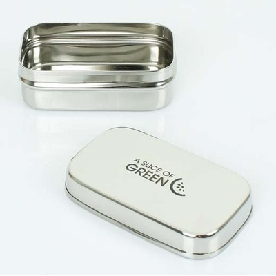 A SLICE OF GREEN petite boite inox rectangle (150 ml)
