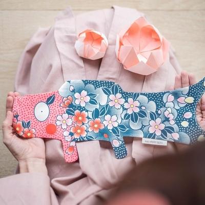 MADAME MO koinobori tattoo sakura coton bio (mini)