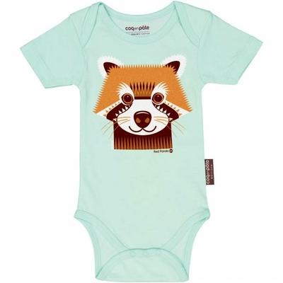COQ EN PATE body panda roux coton bio