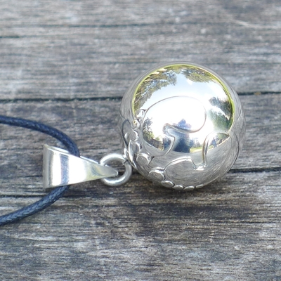bola argent pieds - bijou de grossesse