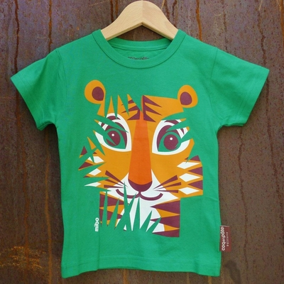 COQ EN PATE t-shirt coton bio tigre