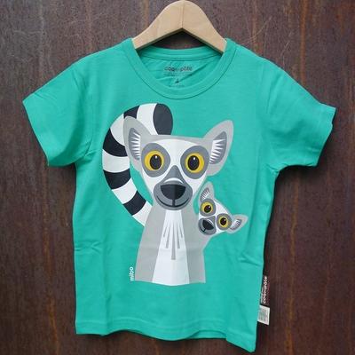 t-shirt coton bio lémurien