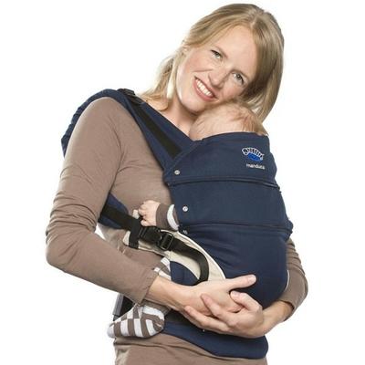 MANDUCA porte-bébé bleu marine chanvre et coton bio
